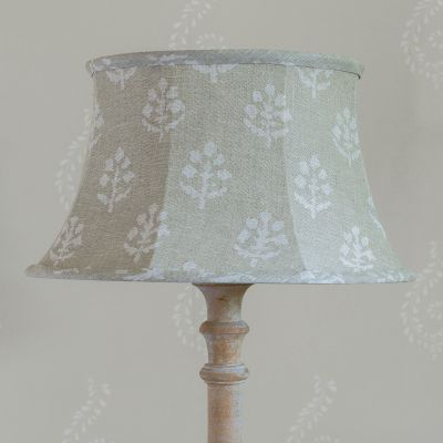 "Grey Megha 14"" Framed Lampshade"
