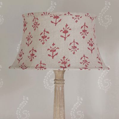 "Indian Red Moonflower 14"" Framed Lampshade"