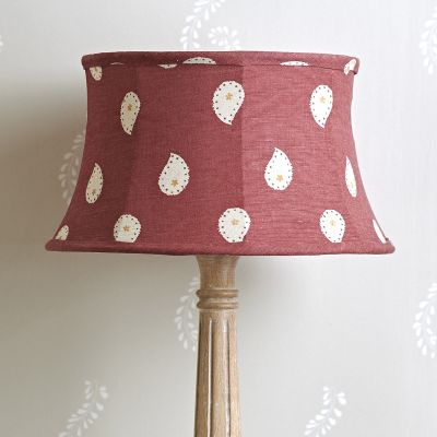Sail Red Mika Framed Lampshade - 14""