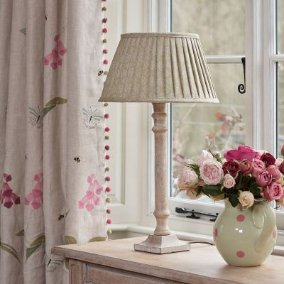 "Catkin Sprig 14"" Pleated Lampshade"
