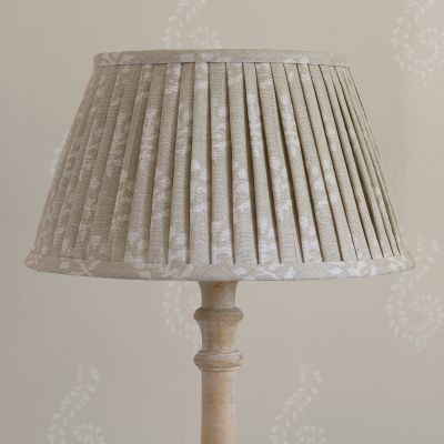 "Grey Megha Linen 14"" Pleated Lampshade"