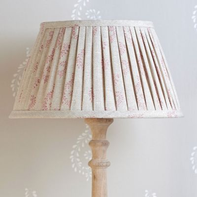 "Rose Shalini Linen 14"" Pleated Lampshade"