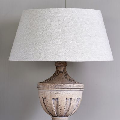 "Plain Grey Cotton Empire 16"" Lampshade (Silver inside)"