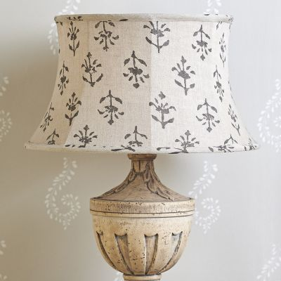 Charcoal Moonflower Framed Lampshade