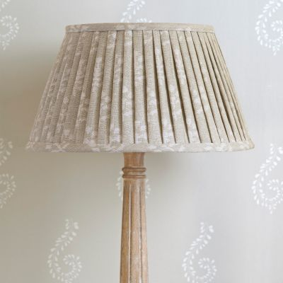 "Grey Megha Linen 16"" Pleated Lampshade"