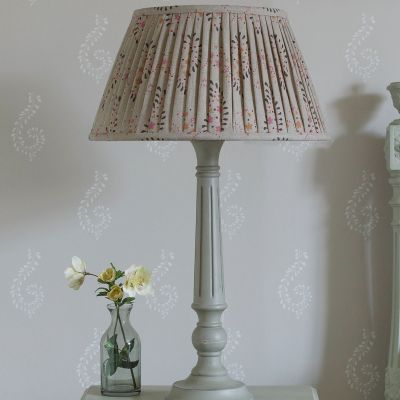 """Lullaby Linen 16"""" Pleated Lampshade"""