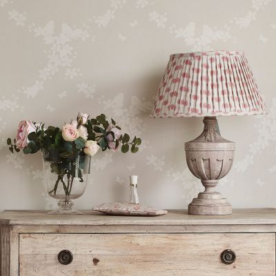 "Rose Nina Linen 16"" Pleated Lampshade"