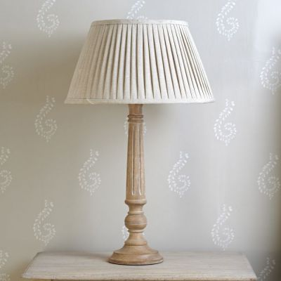 "Plain Linen 16"" Pleated Lampshade - Sale"