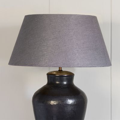 "Charcoal Linen 18"" Empire Lampshade"