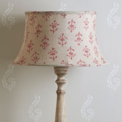 "Indian Red Moonflower 18"" Framed Lampshade"