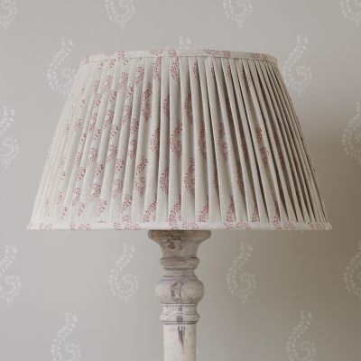 """Red Shalini Pleated Linen Lampshade - 20"""""""