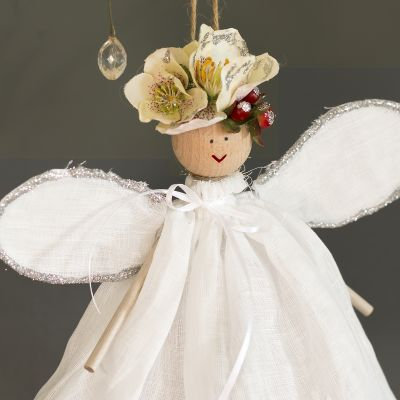 Luxury Christmas Fairy - White Linen Voile
