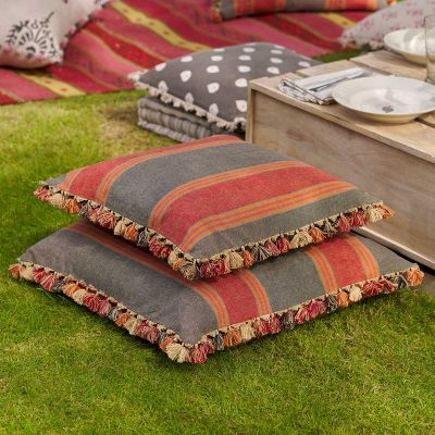 Jodhpur Stripe Cotton Cushion 48 x 48cm