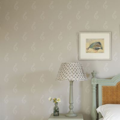 Dove Grey Large Shalini Wallpaper