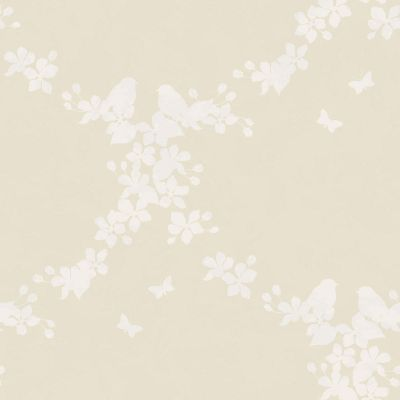 Moonlight Ivory Apple Blossom Wallpaper