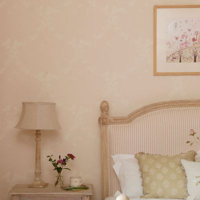 Blush Ivory Apple Blossom Wallpaper