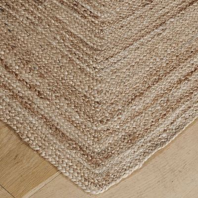 Mitred Effect Hemp Rug - Small