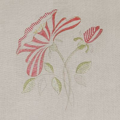 Curtains in Red Rose Linen 250 x 151cm
