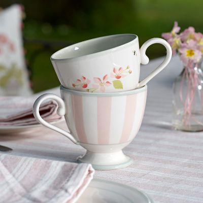 Pink Stripe Large Mug
