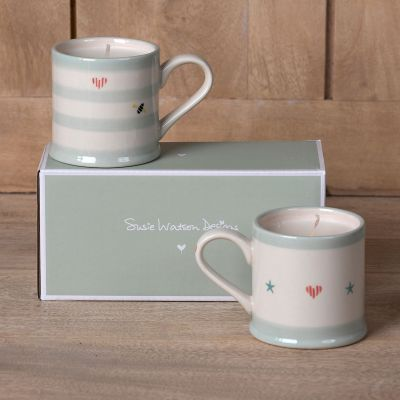 Scented Candles in Espresso Mugs Gift Set