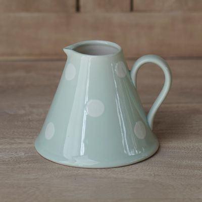 Blue / White Spot Baby Pitcher