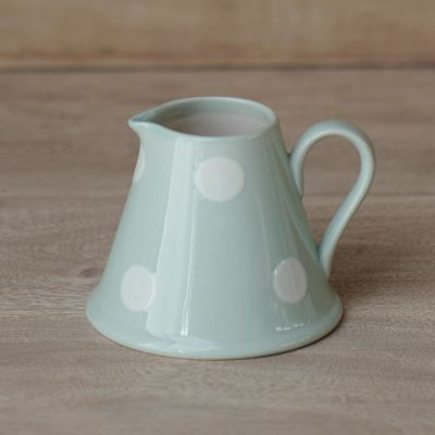 Blue / White Spot Mini Pitcher