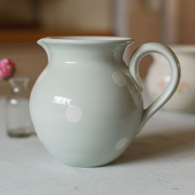 Blue White Spot Medium Round Jug