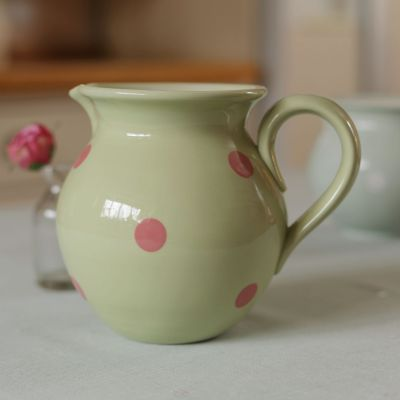 Green Rose Spot Medium Round Jug