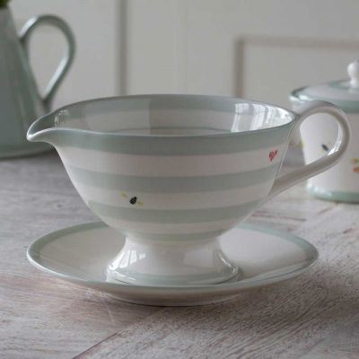 Honey Bees Sauce Boat and Saucer
