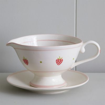 Strawberry Boat Sauce Boat & Saucer