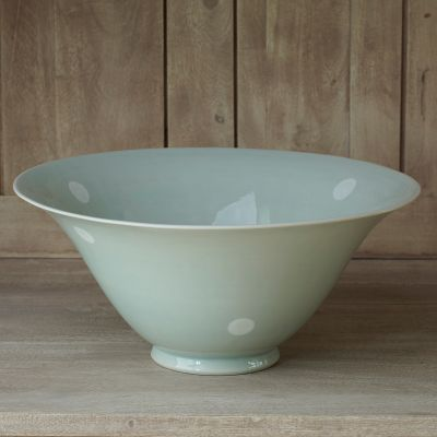 Blue / White Spot Large Salad Bowl