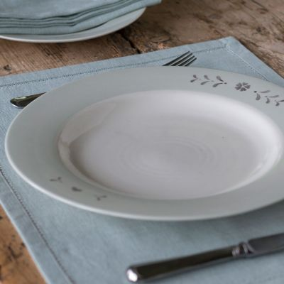 Gustavian Charcoal Dinner Plate– Seconds