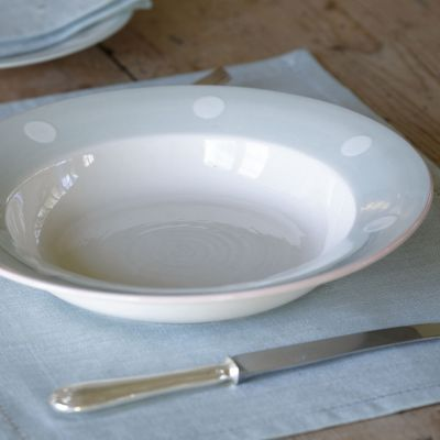 Blue / White Spot Pasta Bowl - 28 cm