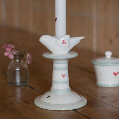 Honey Bees Small Bird Candlestick