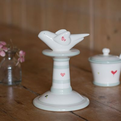 Small handpainted candlestick