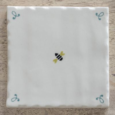 hand made and hand painted Honey Bee Tile