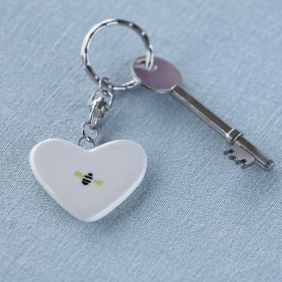 Honey Bees Keyring