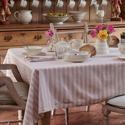 Pale Rose Cambridge Stripe Tablecloth