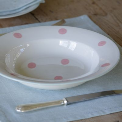All Over Spot Pink Pasta Bowl