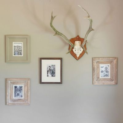 Painted Wood Frieze Photo Frame