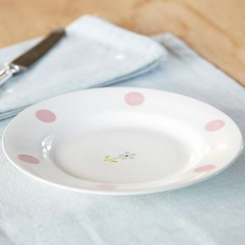 Side Plate - Flowerbed Blue SECONDS