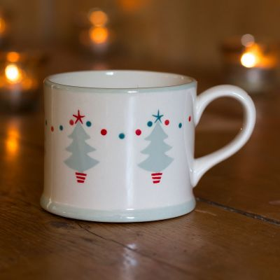 Grey Christmas Trees Small Mug