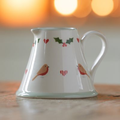 Christmas Robins Mini Pitcher