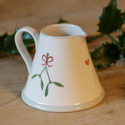 Christmas Mistletoe Mini Pitcher
