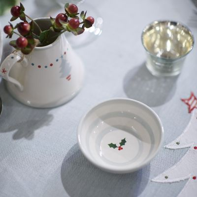 Christmas Holly Mini Bowl/Teabag Holder