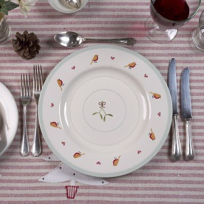Christmas Robin Dinner Plate