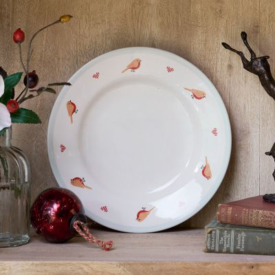 Christmas Robin Side Plate