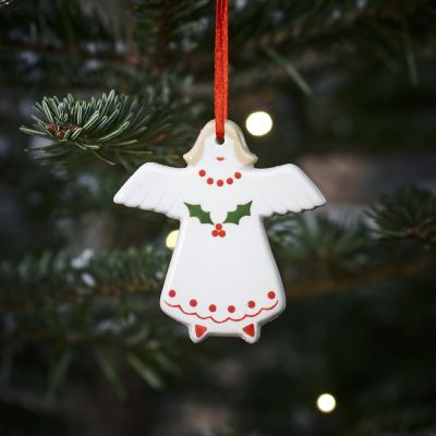 Holly Angel Christmas Decoration