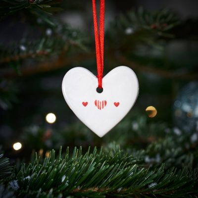 Christmas Decoration Heart - Red Heart