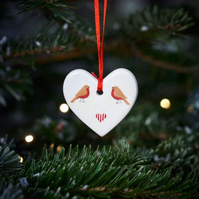 Robins & Heart Christmas Decoration
